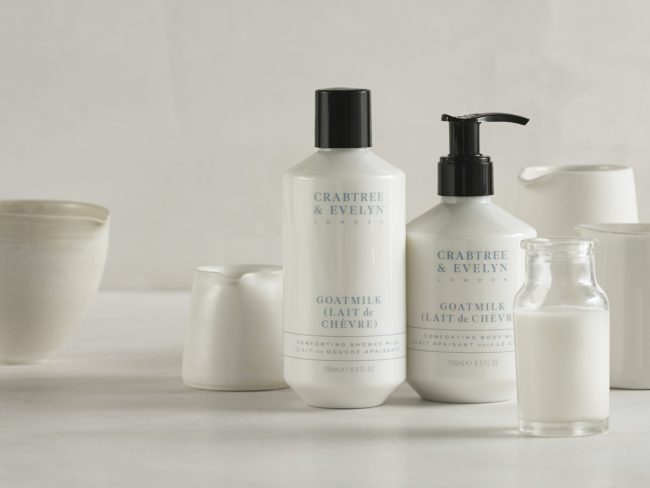 18 Crabtree and Evelyn Goatmilk Range